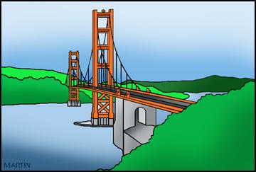 Free Bridges Clip Art by Phillip Martin